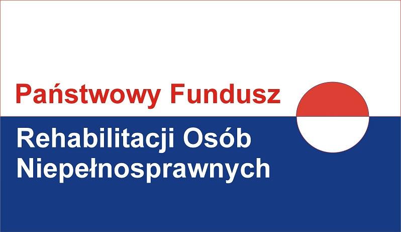 zdjęcie przedstawia logo państwowego funduszu rehabilitacji osób niepełnosprawnych
