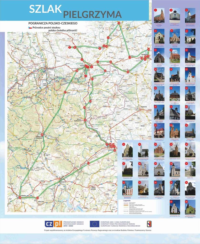 zdjęcie przedstawia mapę szlaku pielgrzyma