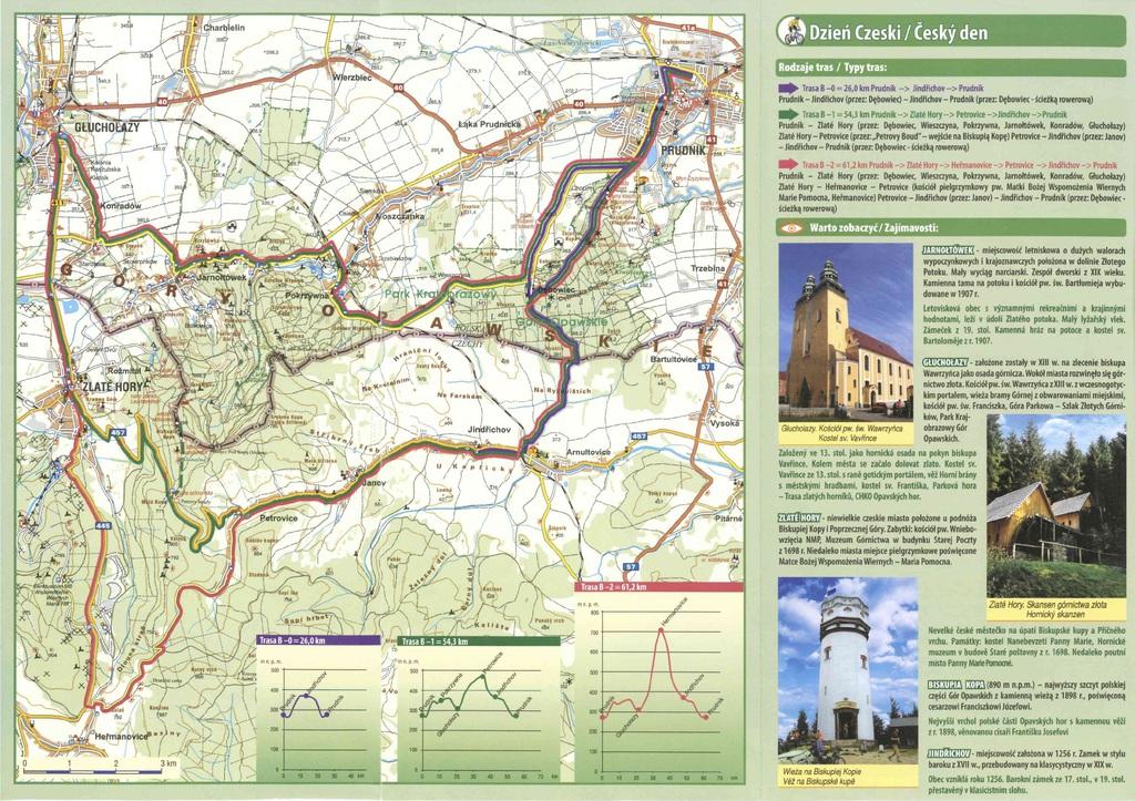 """zdjęcie przedstawia mapy ścieżek rowerowych i tras turystycznych """"dzień Czeski"""""""