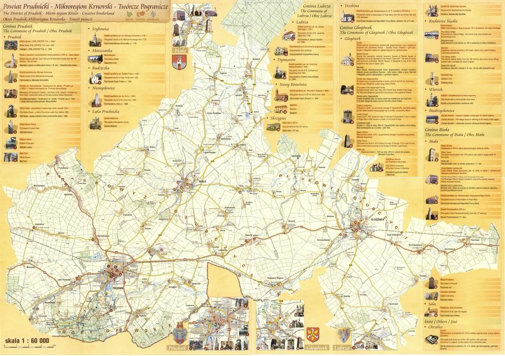 zdjęcie przedstawia mapę powiatu Prudnickiego