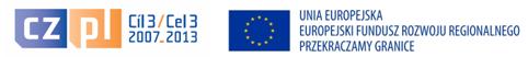 Zdjęcie ukazujące logo projektu oraz flagi Unii Europejskiej